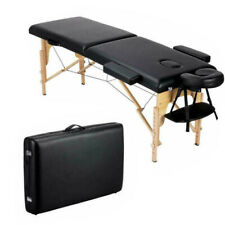 84'' Massage Table Adjustable Salon Bed Portable 2 Folding With Carry Case