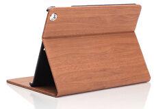 Wood Grain Smart Wake Sleep Stand Flip Case Cover for Apple iPad 2/3/4 Air Mini