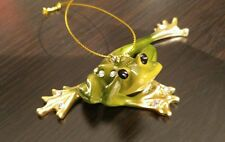 December Diamonds Frog Version 2 Zoology Christmas Ornament