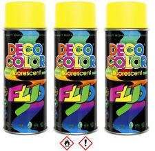 3 x 400ml Neongelb Gelb Neon Lackspray Markierung Sprühlack Lack Dose  14 320