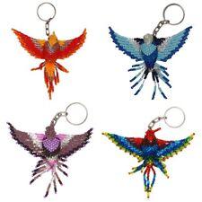 Hummingbird Key Rings Chain Glass Artisan Beads Lot Wholesale Six Pack Assorted