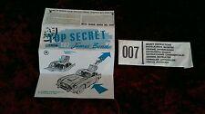 CORGI TOYS 261 James Bond Aston Martin DB5 Secret istruzioni & Busta Nuovo di zecca