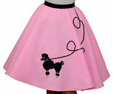 "Pink FELT Poodle Skirt _ Adult Size Plus XL- 3XL _ Waist 40""- 47"" _ Length 25"""