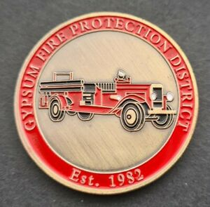 GYPSUM FIRE PROTECTION Challenge Coin FREE COIN STAND AND BRAND NEW FITTED COIN