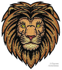 MALE LION iron-on PATCH embroidered AFRICAN WILD SAFARI SOUVENIR BIKER APPLIQUE