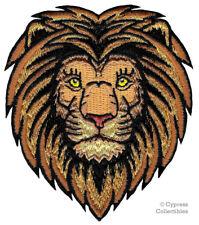 MALE LION iron-on PATCH embroidered AFRICAN WILD SAFARI SOUVENIR BIKER APPLIQUE