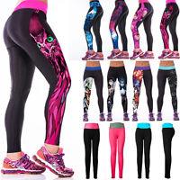 Damen Fitness Gym Yoga Jogginghose Laufhose Leggins Skinny Capri Hose Sporthose