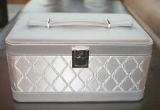 New Silver Top Handle Cosmetic Bag Makeup Case Jewelry Box Container