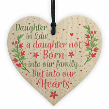 Son And Daughter In Law Wedding Day Birthday Christmas GIFTS Wood Heart Plaque