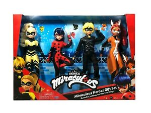 Miraculous Ladybug  4 Pack Queen Bee, Lady Bug, Cat Noir, and Rena Rouge