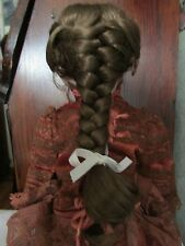 SIZE 10 GEORGIA WIG  MOHAIR SYNTHETIC  LIGHT BROWN  MODERN ANTIQUE DOLL