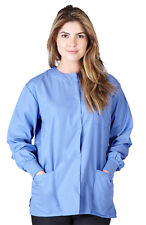 Medical Nursing Natural Uniforms Women's Scrubs Warmup Jacket Ceil Blue G102 3xl