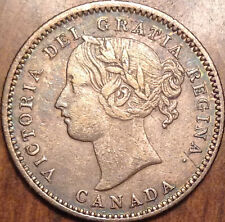 1858 CANADA SILVER 10 CENTS IN GREAT CONDITION !!