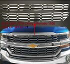 2016-2018 Chevy Silverado 1500 Overlay Cover Inserts Chrome Grille Skin Snap On