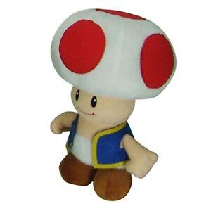 Nintendo Super Mario Toad 8 Inch Plush Toy NWT