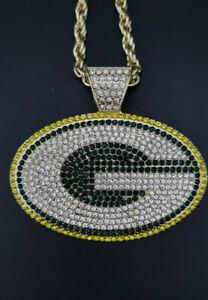 Green Bay Packers Football Team Necklace V-Neck Pendant Souvenir - 60 Cm