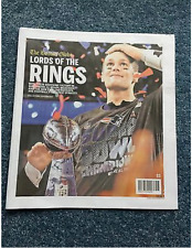 New England Patriots Boston Globe Superbowl  51 Special Edition Lord Of Rings
