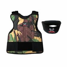 Maddog Paintball Chest Protector Neck Protector Safety Combo Camo