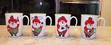 Vintage Set Of Four (4) Fitz & Floyd Christmas Mugs Cowboy Santas Nos Nib