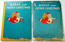 1940 Jean De Brunhoff BABAR AND FATHER CHRISTMAS true 1st US in dj