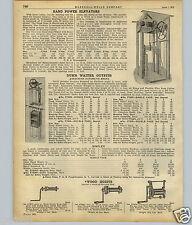 1922 PAPER AD Hand Powered Dumb Waiter Sedgwick Automatic Brake Diagram Images