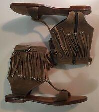 SAND Sandals Hand Made In Bali Size 8 Fringe EUC