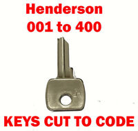 2 x Henderson 001 to 400 Garage Door Replacement Keys Cut to Code