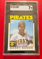 1986 Topps Traded Barry Bonds #11T - Pittsburgh Pirates - SGC 7 NM - UNDERGRADED