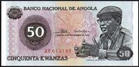 1976 Angola 50 Kwanzas Banknote * AR 613185 * gEF * P-110a *