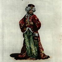 Egyptian Bashaw Dress African Fashion illustration 1779 antique hand color print