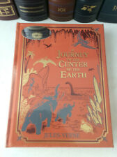 Journey to the Center of the Earth by Jules Verne - leather-bound