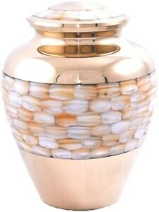 Mother of Pearl Floral Adult Cremation Urn