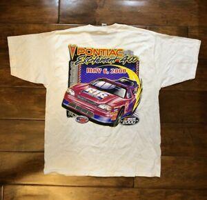 Vintage Pontiac Excitement 400 May 6, 2000 Race T Shirt Size Large NASCAR Racing