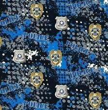 Police Depart Abstract Geo Logo Fabric Badge Blue Black Military 2