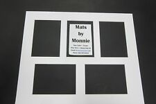 Picture Framing  Mat 16x20 Purewhite with 5 openings for 5x7 photos set of 5