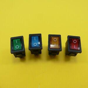 AC 6A/250V 10A/125V 2 Position ON/OFF DPST Rocker Switch 4 Pin 21mm x 15mm