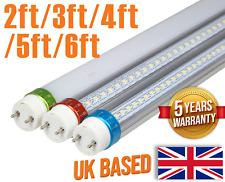 LED T8 tube lights 2ft 3ft 4ft 5ft 6ft direct replacement all colours 100-230VAC