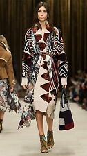 $4995 BURBERRY PRORSUM Geometric Wool & Cashmere Southwest Blanket Sweater Coat