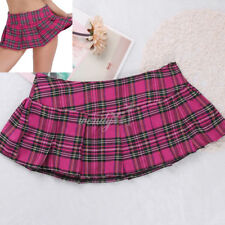 dbd69dfcbf6 US Plus Women Tennis School Girl High Waist Plaid Skated Short Mini Skirt  Dress