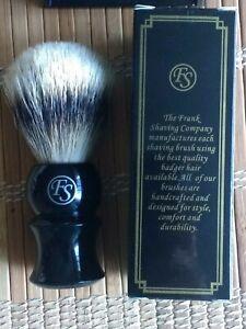 NEW Frank Shaving Natural Badger Hair Shaving Brush 22 mm Knot w/Drip Stand