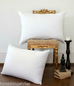 LUXURY DUCK FEATHER AND DOWN PAIR PILLOW EXTRA FILLING COMFORTABLE TOP QUALITY