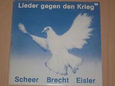SCHEER / BRECHT / EISLER -Lieder gegen den Krieg- LP