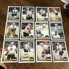 1987-88   O-Pee-Chee  BOSTON BRUINS 12 card Team set/lot -- set 2