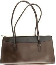 70c176d2e8 TOSCA BLU Minoronzoni Italy Women Genuine LEATHER Shoulder Bag Brown Black  13