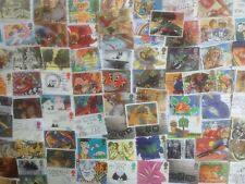 More details for 200 different great britain greetings & multi value se-tenants stamp collection