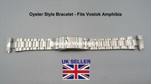 Oyster Style Bracelet with 18MM Straight End Pieces Fits Vostok Amphibia Watch
