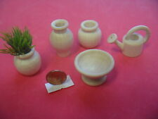 Nr.5 Bodo Hennig 5x Holzvasen Giesskanne 1:10 - Kaufladen Puppenstubenmöbel