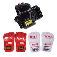 MMA Muay Thai Glove Gym Half Mitt Trainning Sparring Kick Boxing Punching Gloves