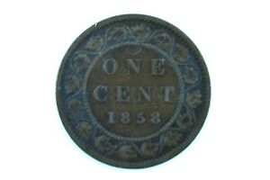 1858 Canada 1c One Cent Large Penny 4.2 Grams Total Weight Ungraded