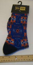 New Era Crew Blue/Orange Aztec Print Socks Size Small/Medium